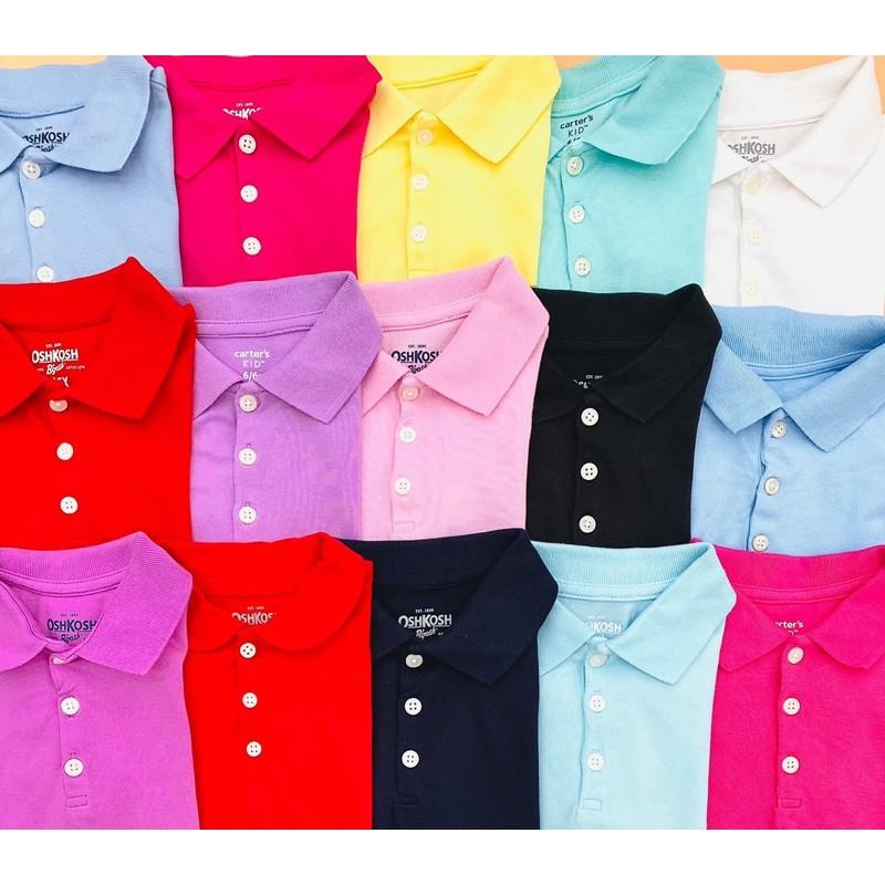 Combo set 2 áo phông polo bé gái có cổ từ 4y đến 14y osh.kosh VNXK
