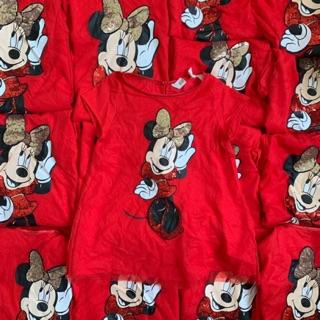 Đầm đỏ bé gái chuột Mickey xuất xịn
