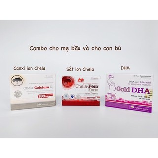Combo sắt-canxi-dha