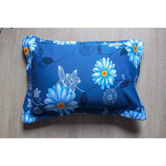 [122 KG] Mẫu mới vỏ gối Thắng Lợi chính hãng chất cotton màu hoa trắng nền xanh hàng chuẩn uy tín gi