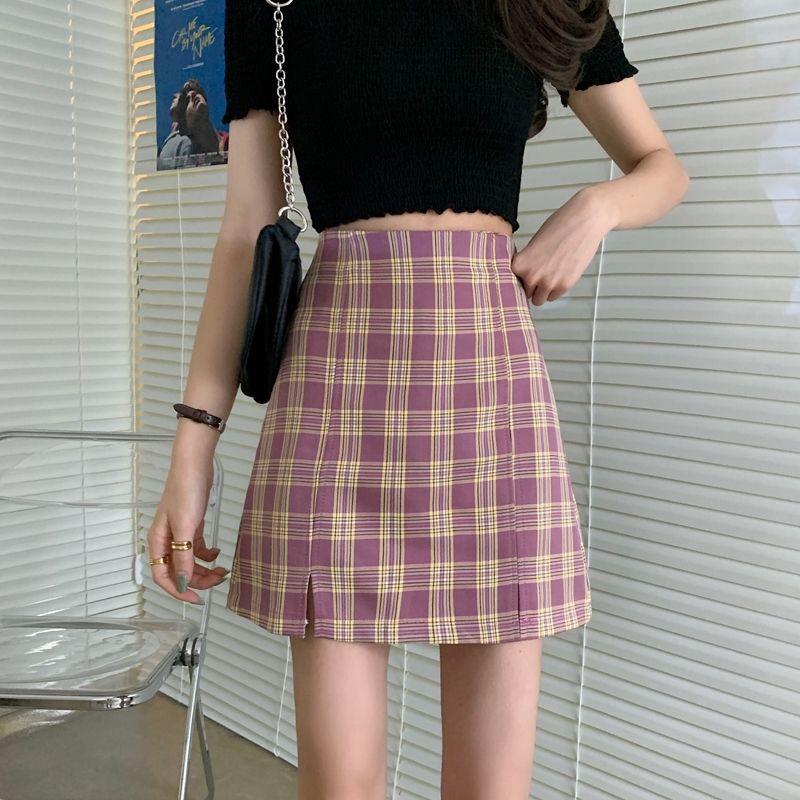 Chân váy kẻ caro chất đẹp hai lớp Jameela