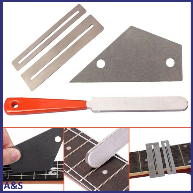 Guitar Fret Luthier Gasket File Leveling Grinding Tool String Winder Kits Guitar Repair Tool