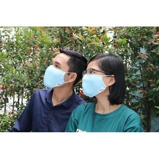 Hình ảnh Khẩu trang vải kháng khuẩn cao cấp Poêmy - Khẩu trang kháng khuẩn 2 lớp-4
