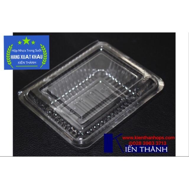 Hộp nhựa dùng 1 lần nhỏ 12.2X9.8X3.4 L-3 (100 cái) Hàng Xuất Khẩu