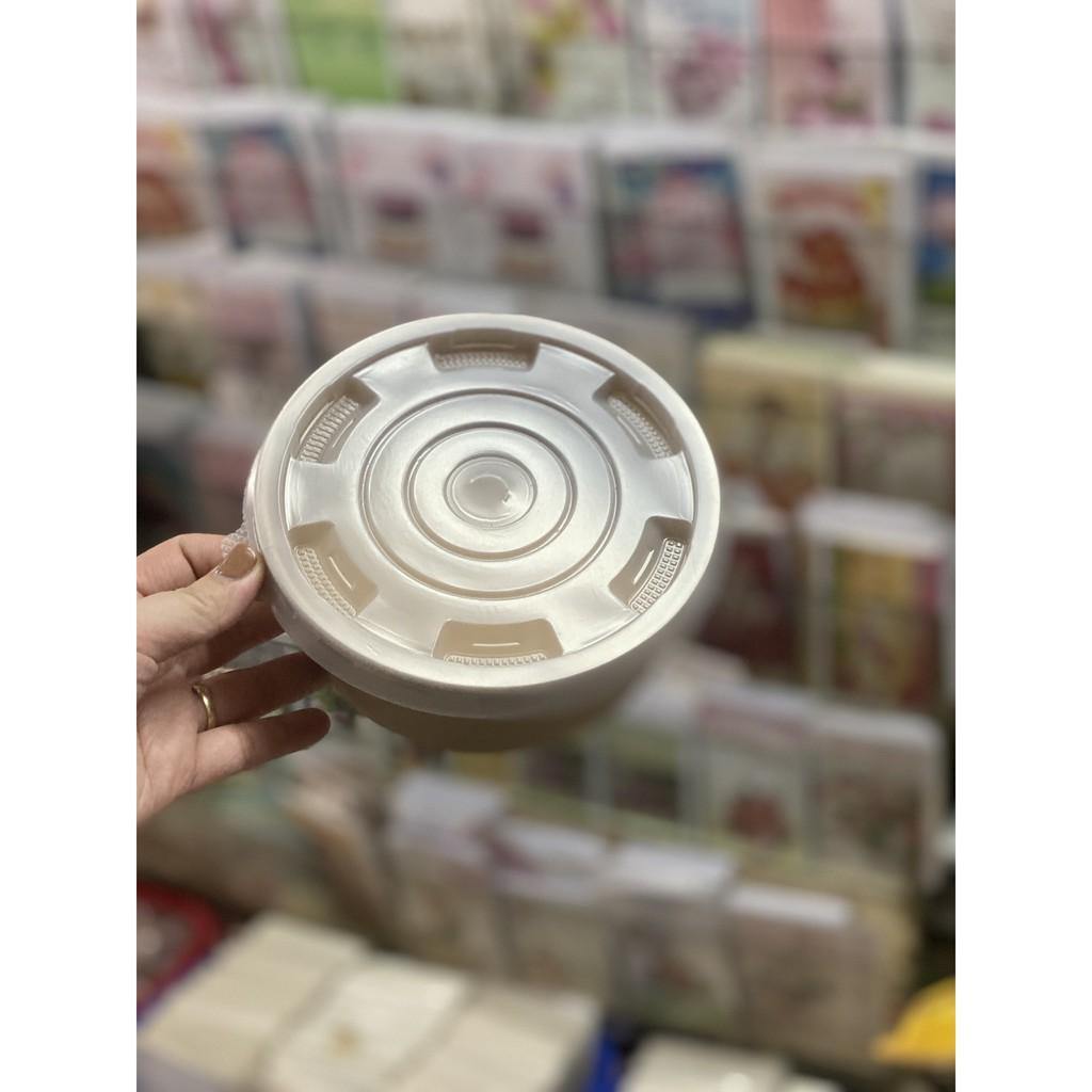 50 cái tô giấy kraft màu nâu nắp bằng size 750ml hoặc 1000ml dùng để đựng đồ nóng cháo phở hoặc bánh đồ ăn các loại