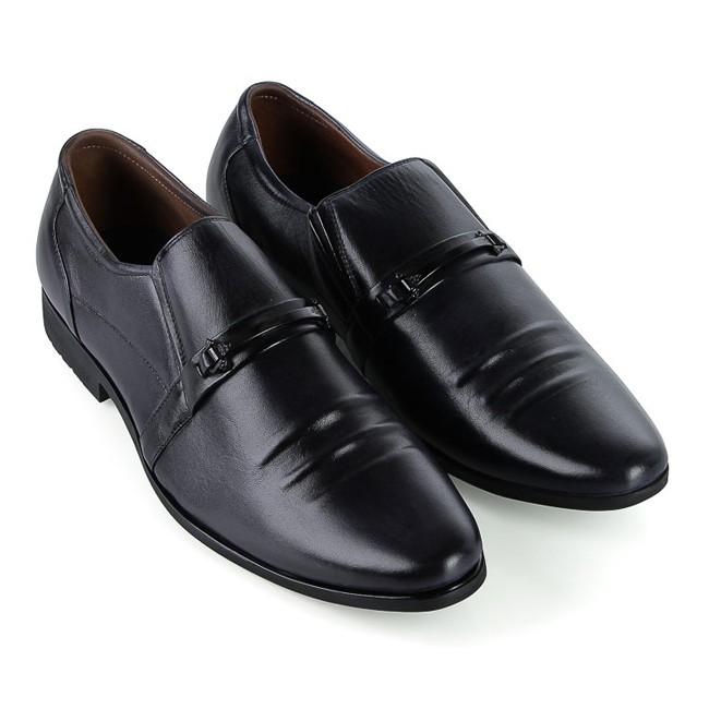 Giày tây nam da bò cao cấp Huy Hoàng màu đen HP7780