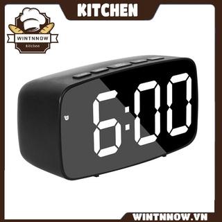 LED Large Mirror Alarm Clock Multi-function LED Durable Electronic Clock