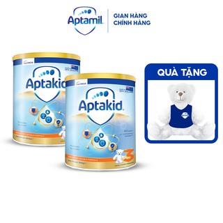 """[Nhập MKBAPT -7% 500k][Tặng Gấu Bông] Combo 2 Sữa bột Aptakid New Zealand hộp thiếc (900g/lon) cho bé từ 24 tháng tuổi giá chỉ còn <strong class=""""price"""">106.700.000.000đ</strong>"""