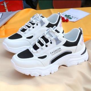 Giày Thường Hoang Dã Của Phụ Nữ Thời Trang Hàn Quốc Thoải Mái, Giày Thể Thao Sinh ViêninsThủy Triều Giày Lưới Thoáng Khí thumbnail