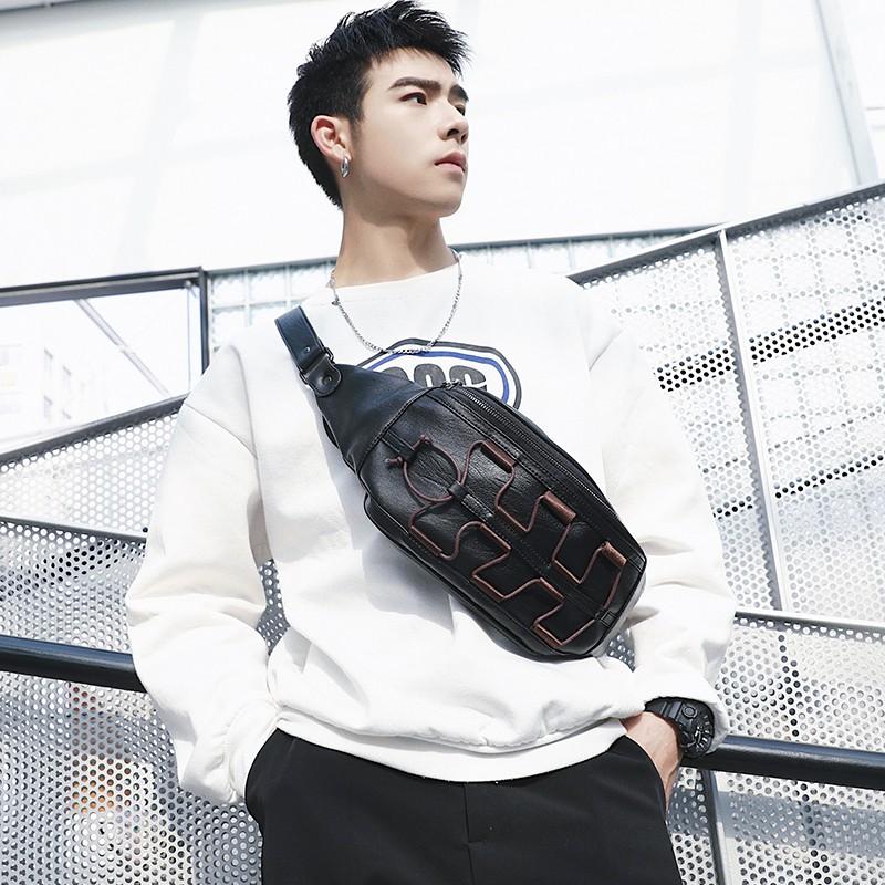 Original design Korean men's new chest bag small bag simple