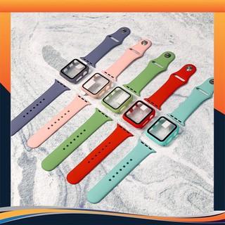 [Mã ELFLASH5 giảm 20K đơn 50K] Ốp viền Apple watch kèm kính cường lực, bảo vệ toàn diện cho Apple Watch của bạn