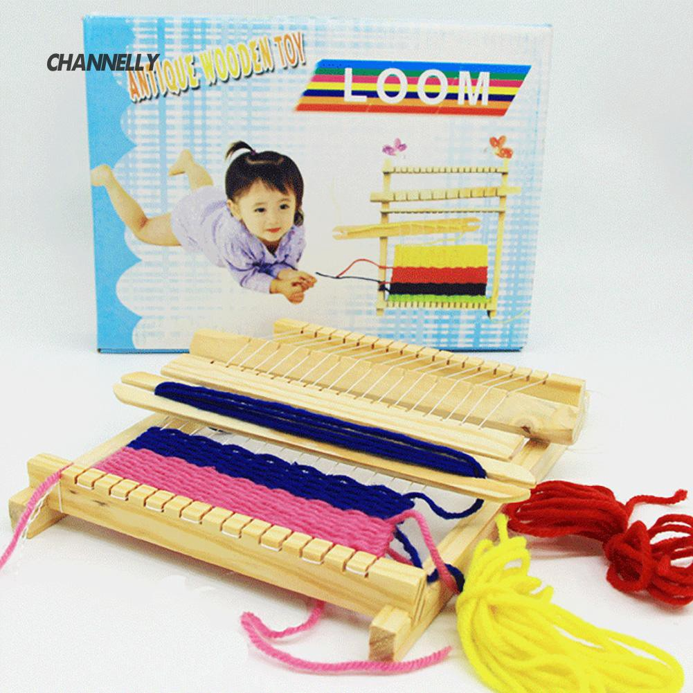 ■Cy Wood Knitting Loom Yarn Shuttle DIY  Craft Tool Kid Intelligence Toy