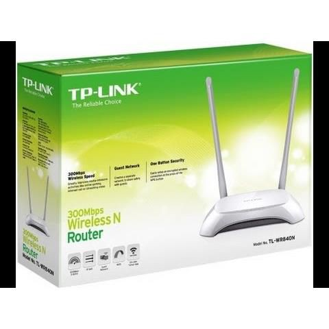 Bộ Phát Wifi TP-LINK TL-WR840N 2 Râu Phân Phối Chính Hãng