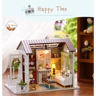 Happy Time – Nhà mô hình đồ chơi DIY ( TẶNG LỌ KEO UFO 35ml )