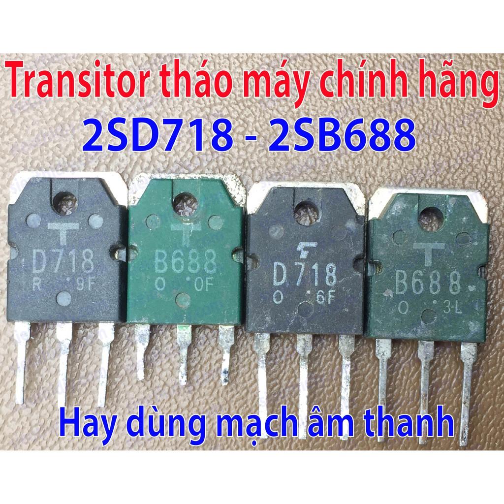 Transitor 8A 120V 80W 2SD718-2SB688 To3P tháo máy chính hãng