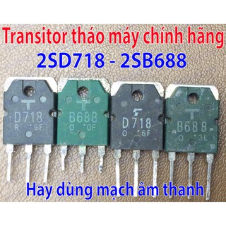 Transistor 8A 120V 80W 2SD718-2SB688 To3P tháo máy chính hãng
