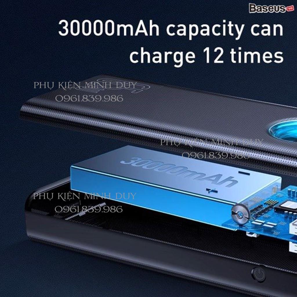 Pin sạc dự phòng công suất cao 65W 30.000mAh Baseus Amblight Digital Display Quick Charge Power Bank ❤