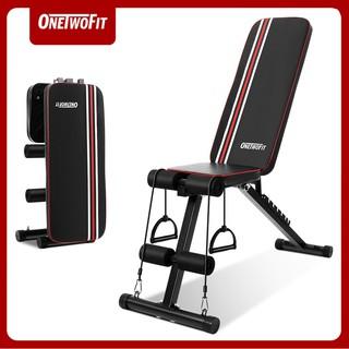 OneTwoFit Ghế tập tạ đa năng Ghế gập bụng chống đẩy tập gym đa năng có thể gấp lại Có thể điều chỉnh độ nghiêng OT226 thumbnail