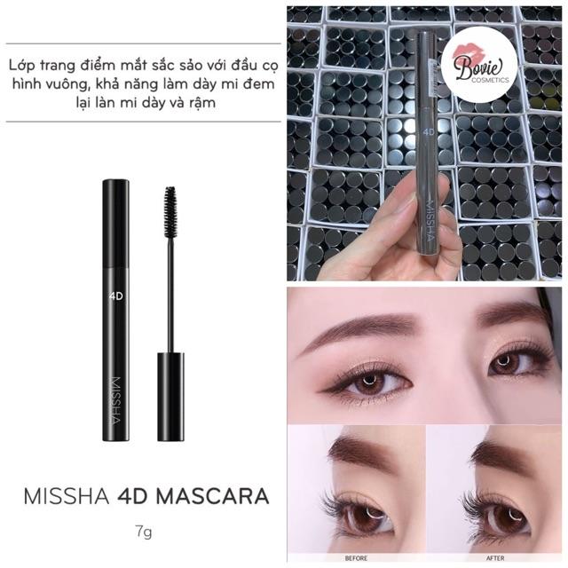 ( Sẵ - mẫu mới ) Chải mi Mascara Missha Style 4D Hàn Quốc không lem