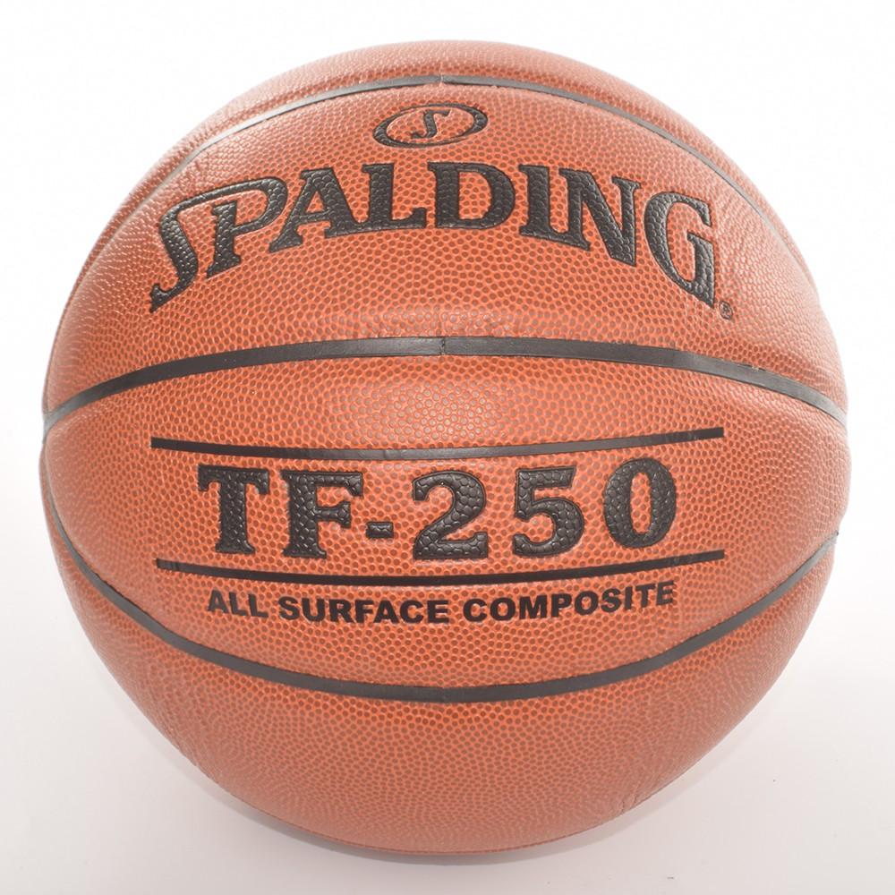 Bóng rổ Spalding TF250 All Surface Indoor/Outdoor Size 6 + Tặng bộ kim bơm bóng và lưới đựng bóng
