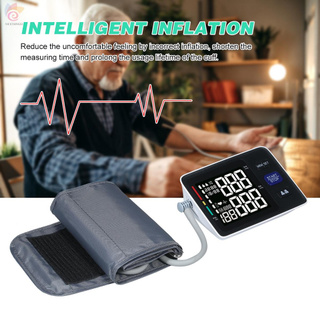 ET U85H Automatic Upper-arm Blood Pressure Monitor Digital Blood Pressure Meter with Large Cuff Fits 8.7-inch to 16.5-inch Upper-arm Support 2×90 Sets of Data Record Irregular Heart Beat Pulse Machine BP Meter for Medical Household Use