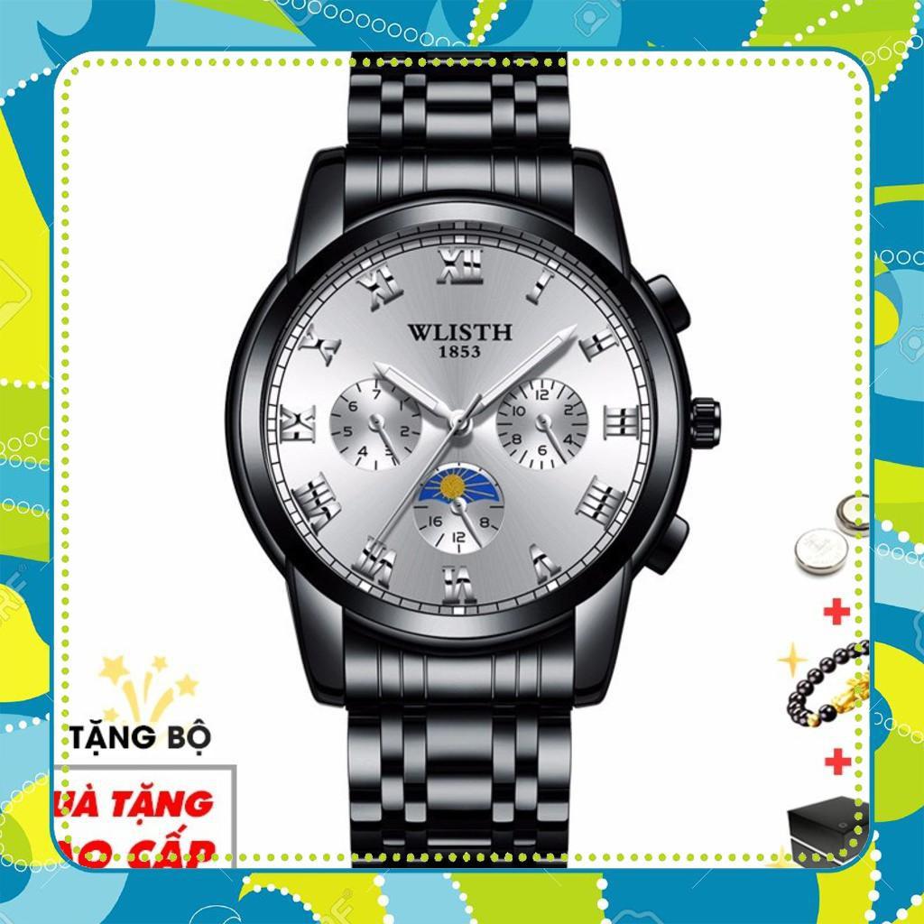 [Kho giá rẻ] Đồng hồ nam chính hãng cao cấp dây thép không gỉ WLISTH WLI01 - Đồng Hồ Quốc Tế