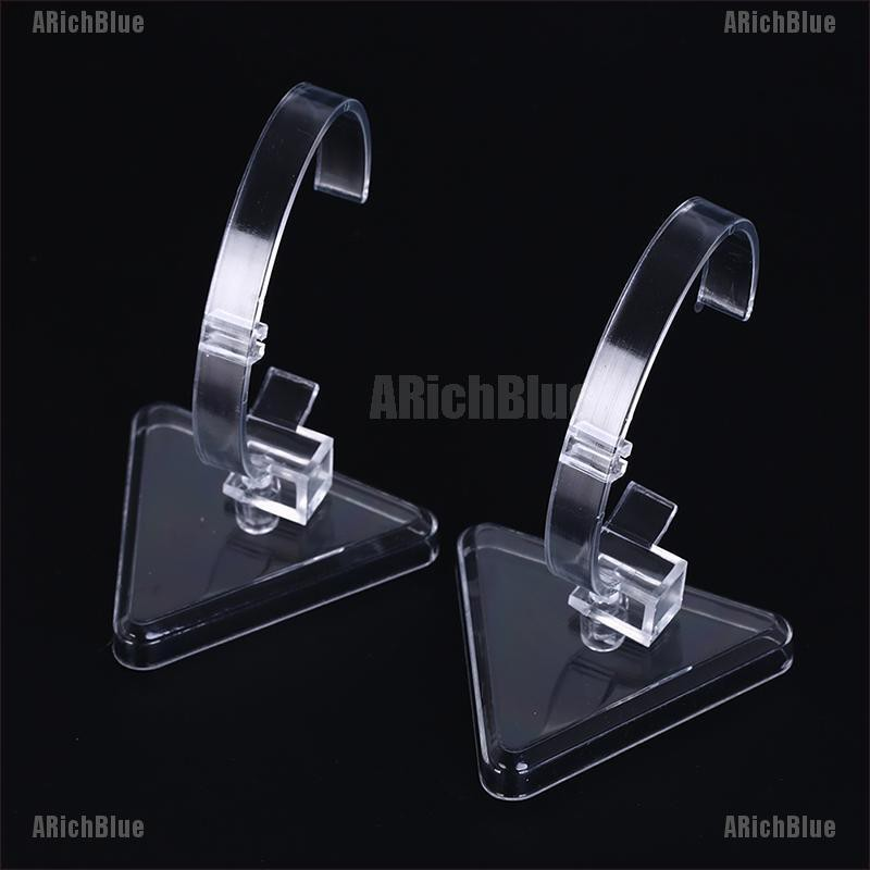ARichBlue 1pc clear plastic wrist watch display rack holder sale show case stand tools