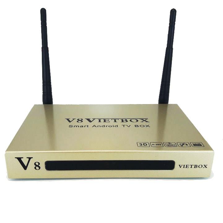 Android Box ram 1G V8 VIETBOX biến TV thường thành smart TV