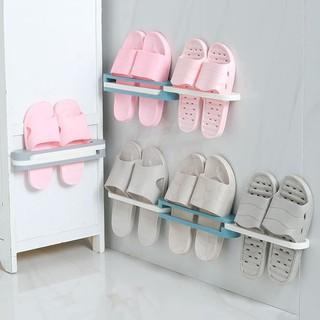 Giá gắn tường treo giày dép, khăn 3 trong 1 gấp gọn tiện dụng 88087