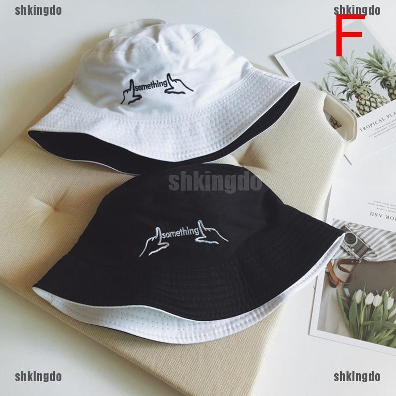 THINH Mũ Bucket chất Cotton thiết kế đơn giản hợp thời trang