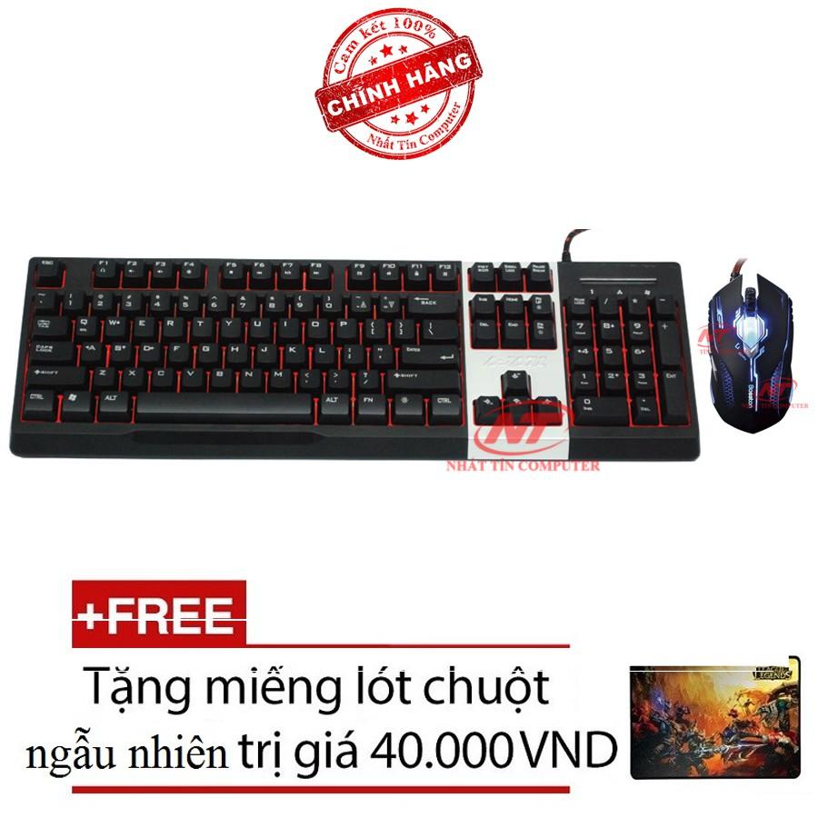 Bộ bàn phím giả cơ và chuột chuyên game Ajazz AK10 - Bosston X11 (Đen) + Tặng kèm lót chuột - 2535698 , 380327916 , 322_380327916 , 668000 , Bo-ban-phim-gia-co-va-chuot-chuyen-game-Ajazz-AK10-Bosston-X11-Den-Tang-kem-lot-chuot-322_380327916 , shopee.vn , Bộ bàn phím giả cơ và chuột chuyên game Ajazz AK10 - Bosston X11 (Đen) + Tặng kèm lót chu