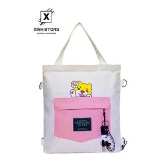 Túi Vải Tote Đeo Chéo Đeo Balo XinhStore Hình Chó Con thumbnail