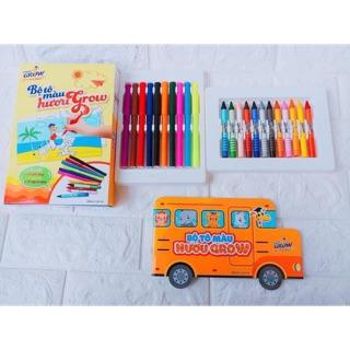 Bộ tô màu bút sap bút dạ sách tô khuyến mãi