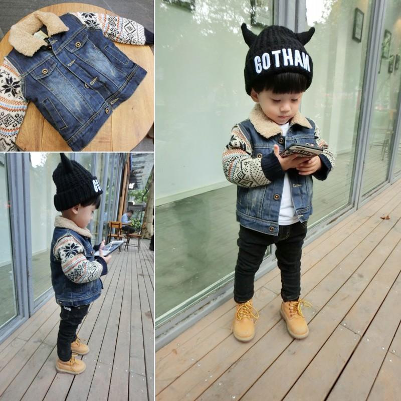 áo khoác jeans thời trang cho bé trai