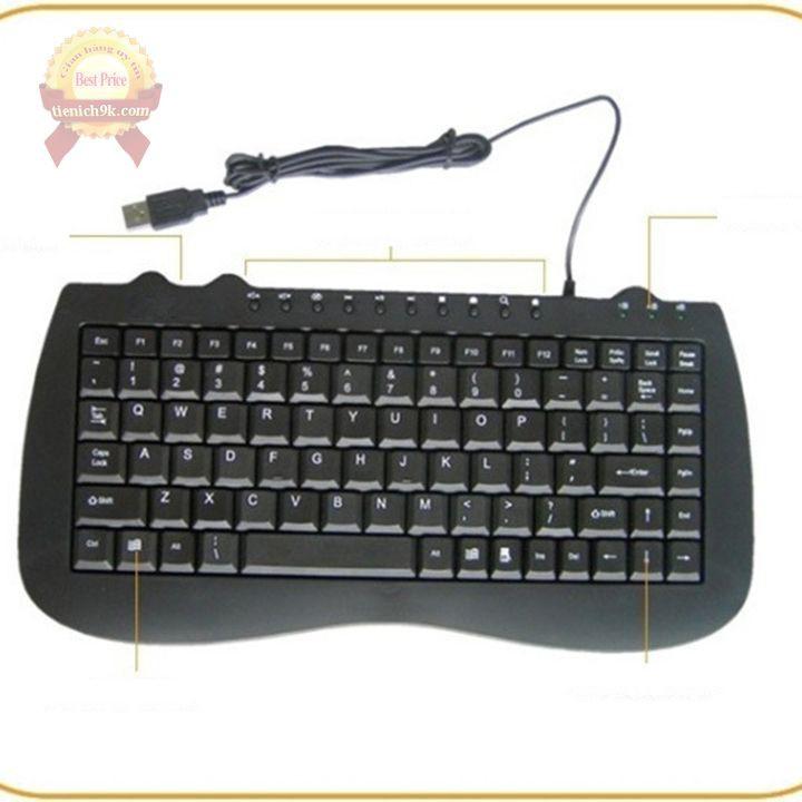 BH 12 tháng - Bàn phím mini keyboard có dây Khung sắt IBM M-1000 full siêu mỏng chức năng media loại mới thay cho K1000