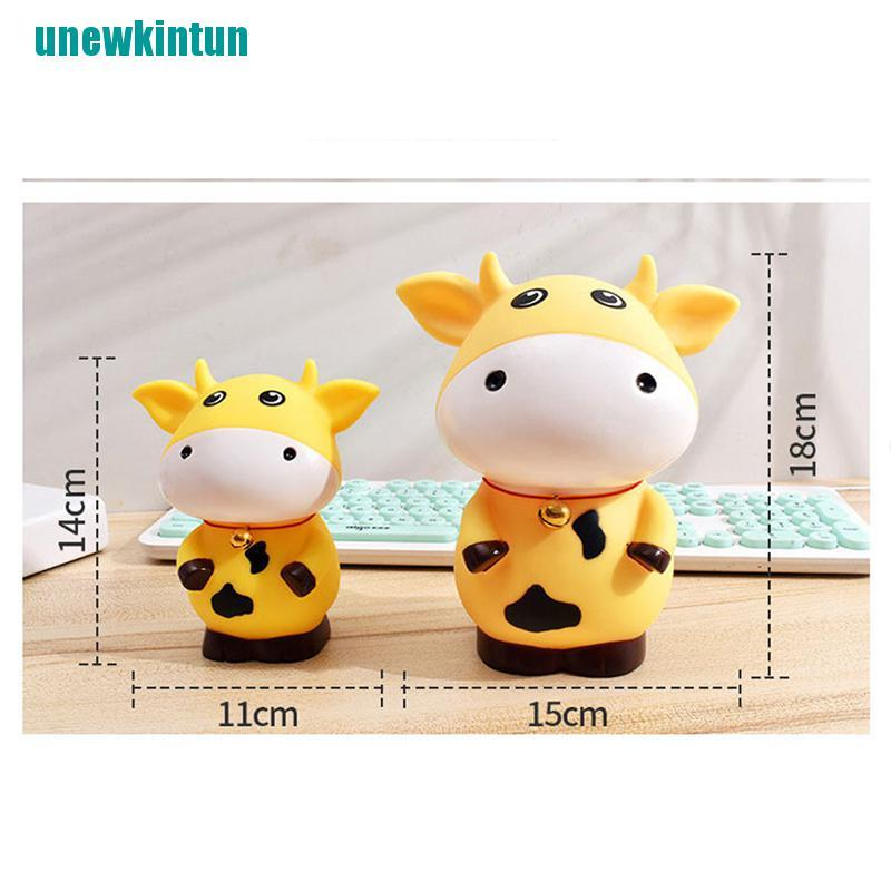 ❤Piggy Bank For Paper Money Zodiac Animal Cow Piggy Bank For Kids Gifts Coins Box