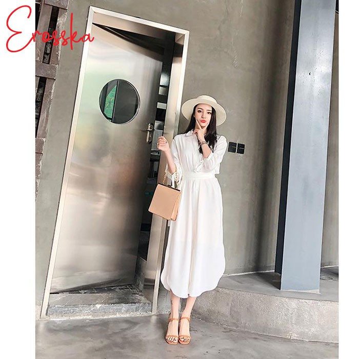 Hình ảnh Giày Sandal Nữ Thời Trang Erosska 5cm Mũi Vuông - EM019 - Màu Nude-4