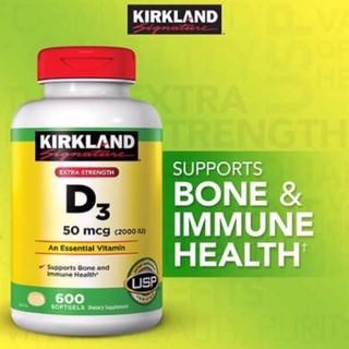 Viên Uống Vitamin D3 2000IU Kirkland 600 viên