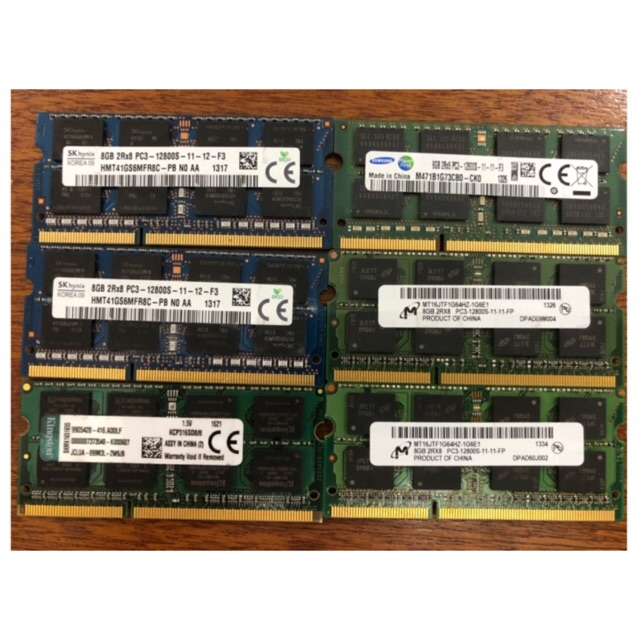 Ram Laptop 8gb Ddr3 PC3 1.5V bus 1600 12800S