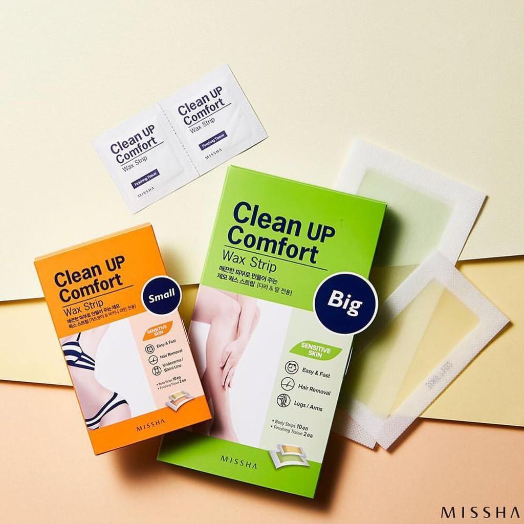 Miếng Wax Lông Missha Clean Up Comfort Wax Strip   Shopee Việt Nam