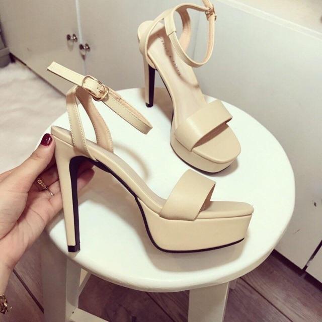 [Hot trend] Giày cao gót I Sanda đế đúp gót vuông 12p siêu tôn dáng vẫn cực chắc chân hàng VNXK săn sale giá tốt