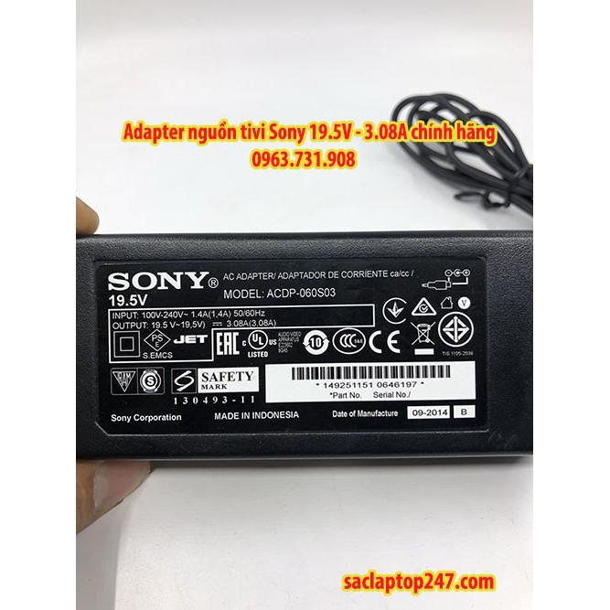 Adapter nguồn màn hình tivi sony 19.5v 3.08a chính hãng