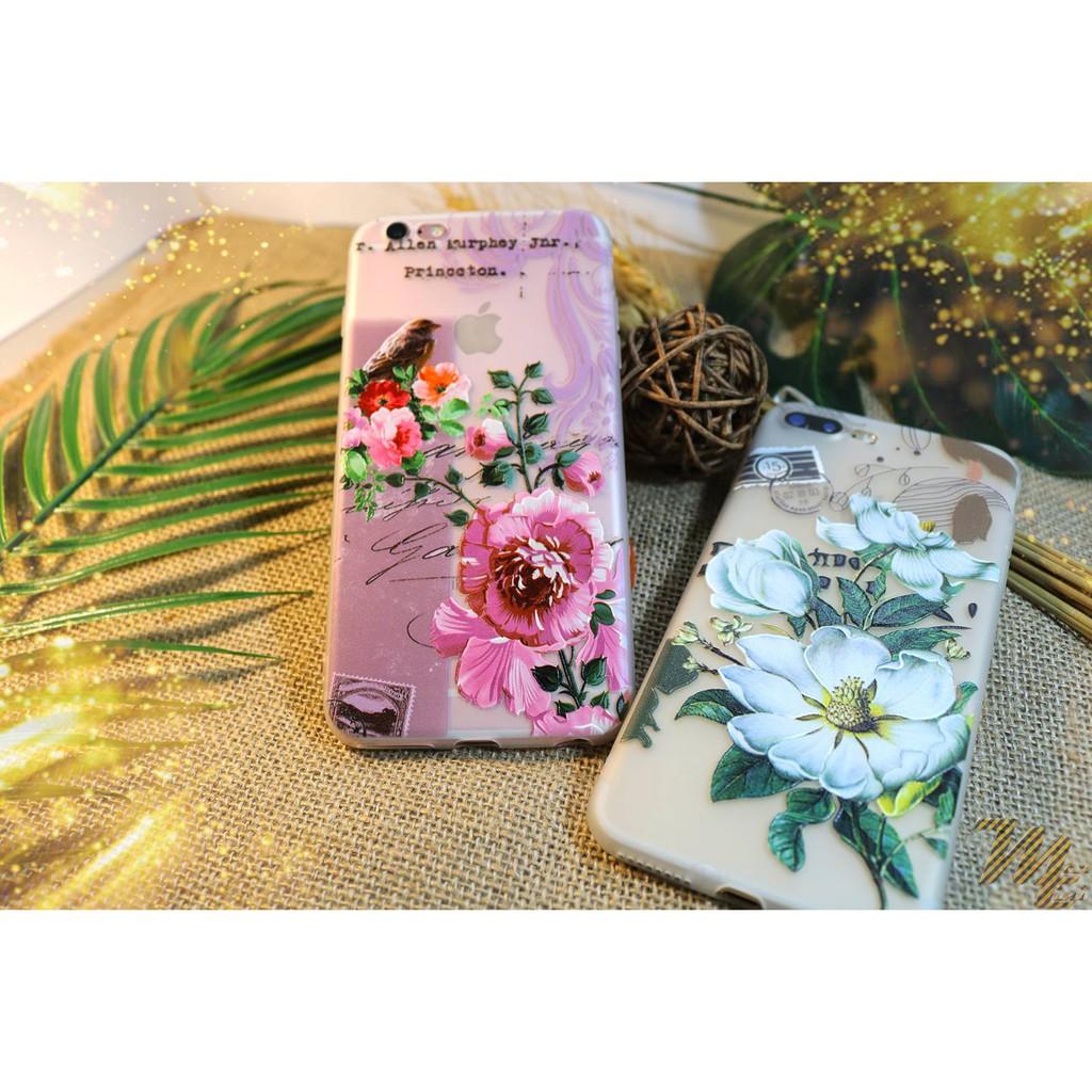 Ốp lưng điện thoại iphone, mẫu họa tiết hoa Châu Âu Maxtini