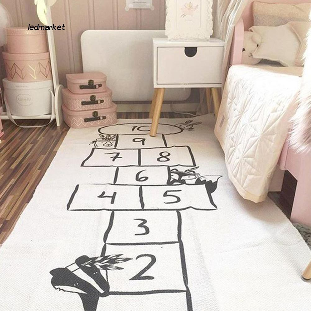 J_Newborn Infant Learning Carpet Hopscotch Game Rug Baby Crawling Learnin