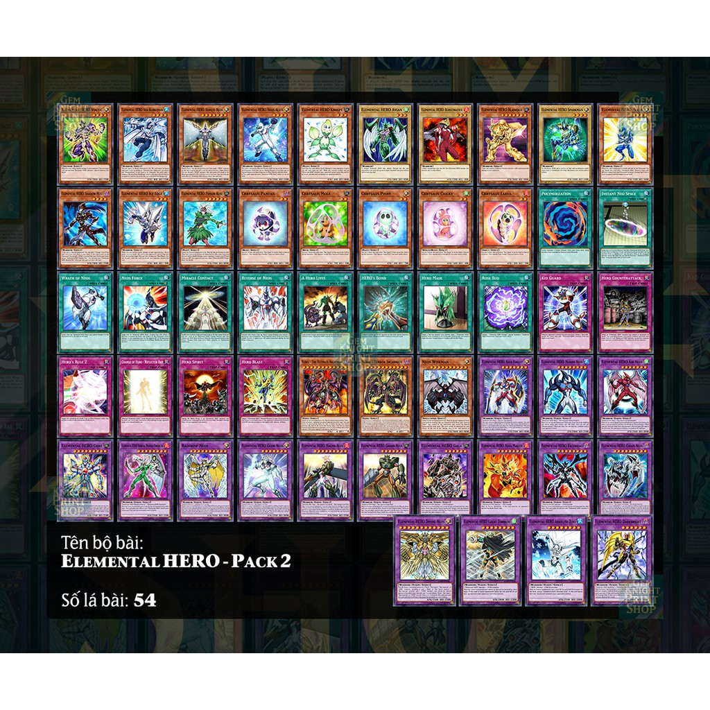 [Bài In] Bài Yugioh - Elemental HERO - Pack 2