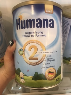 Sữa Humana Gold 2 xuất xứnhập khẩu Đức - Lon 800gr