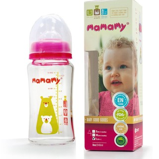 Bình Sữa thủy tinh 240ml Mamamy BS123.