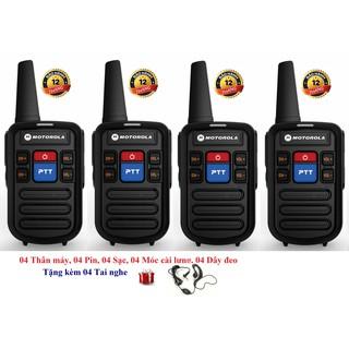 Bộ 4 Bộ đàm siêu nhỏ chất lượng khủng Motorola GP800 (2 Phím bấm PTT)