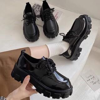 Giày da nữ thời trang Hàn Quốc đế dày thumbnail