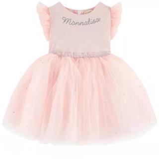 Váy Monnalisa hồng tay hến